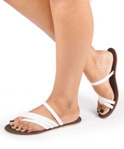 Laydeez Santa's Strappy Sandals (White