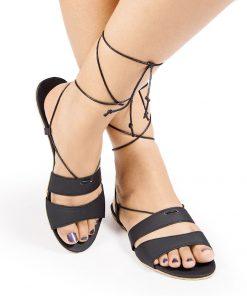 Laydeez - Double Strap Tie Ups - Black Color