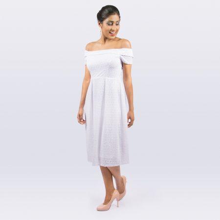 Laydeez White Bomb Occasion Wear