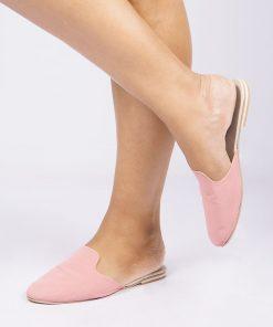Laydeez Laydeez Basic Mules in Nude Pink