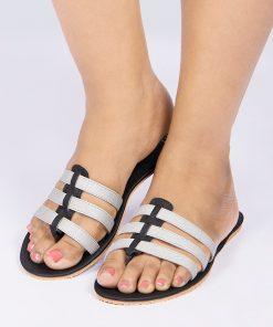 Laydeez Silver Strappy Sandals