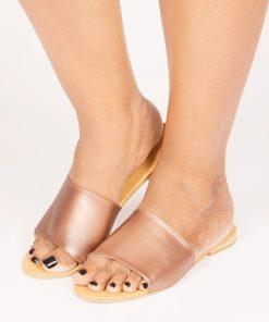 Laydeez Basic Slides in Rose Gold