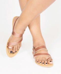 Laydeez Toe Ring Rose Gold Sandals