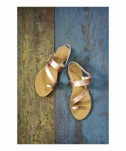 Laydeez Laydeez Toe Ring Sandals in Rose Gold