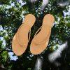 Laydeez - Braided Two Strap Sandals - Beige Color
