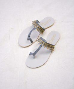 Laydeez - Indian Toe Ring Sandals - Gray Color
