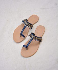 Laydeez - Indian Toe Ring Sandals - Blue Color