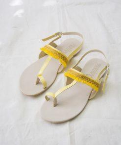 Laydeez - Indian Chappal Sandals - Yellow Color
