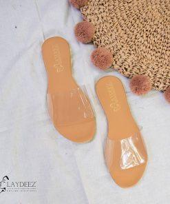 Transparent Basic Sliders in Tan Color