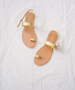 Laydeez - Basic Toe Ring Sandals - Gold Color
