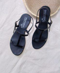 Laydeez H Sandals - Black Color
