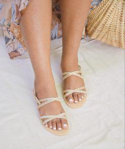 Laydeez Double Cross Sandals