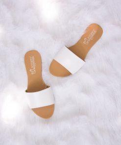 Laydeez Basic Slides in White