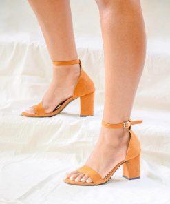 Laydeez Open Toe Block Heels