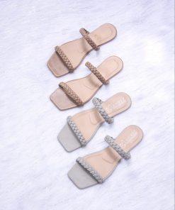 Laydeez Braided Dual Strap Slides