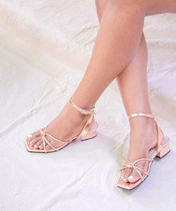 Laydeez Knotted Low Block Heels