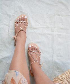 Laydeez Metallic Knotted Sandals