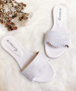 Laydeez Lace Embellished Sliders V2