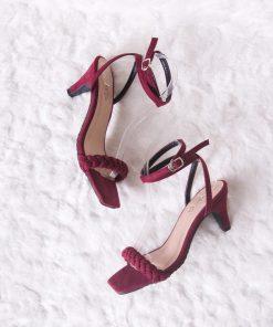Laydeez Emelie Front Braided Square Toe Pointed Heels
