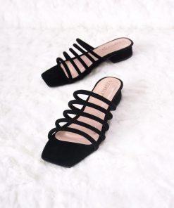 Laydeez Multi Rope Square Toe Block Heels