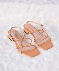 Laydeez Fay Square Toe Rope Low Heels