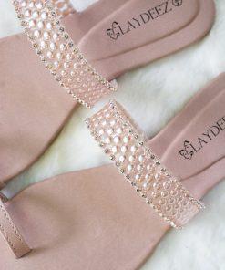Laydeez Pearl Embellished Sliders