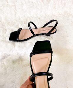 Laydeez Ruby Slingback Square Toe Kitten Heels